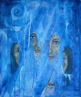 Riwi-Fantasie-Menschen-Frau-Moderne-Abstrakte-Kunst