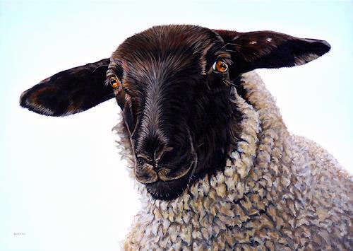 Clara Bastian, Schwarze Schafe, Tiere: Land, Gefühle: Liebe, Gegenwartskunst, Abstrakter Expressionismus