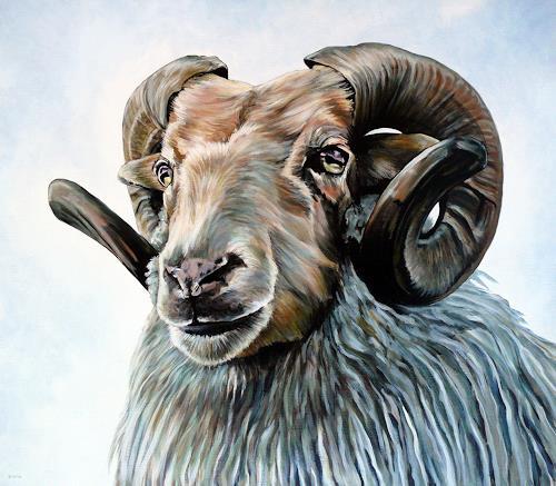 Clara Bastian, Ram, Tiere: Land, Jagd, Realismus, Abstrakter Expressionismus