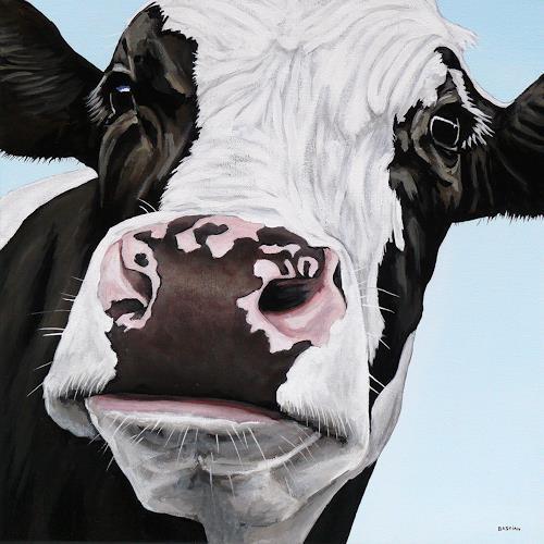 Clara Bastian, Kuh 7995, Tiere: Land, Natur: Diverse, Realismus, Expressionismus