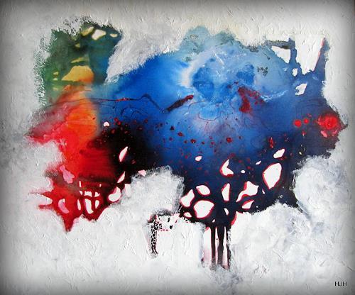 hermann hirschberger, Ladyfish, Abstraktes, Abstrakte Kunst, Abstrakter Expressionismus