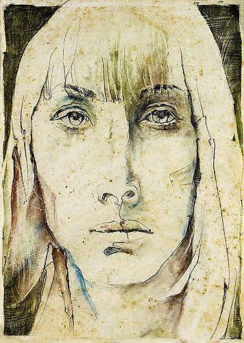 Roman Sprenger, O/T, Menschen: Porträt, Menschen: Gesichter, Expressionismus