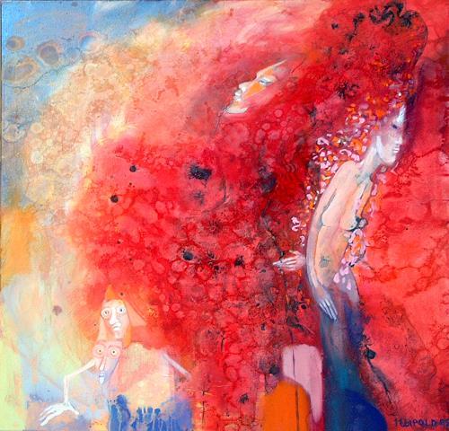 Johanna Leipold, Lady Of Fire, Menschen: Frau, Fantasie, expressiver Realismus, Expressionismus