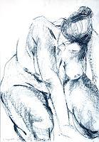 Johanna-Leipold-Akt-Erotik-Akt-Frau-Menschen-Frau-Moderne-expressiver-Realismus