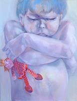 Johanna-Leipold-Menschen-Kinder-Gefuehle-Trauer-Moderne-expressiver-Realismus