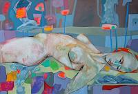 Johanna-Leipold-Akt-Erotik-Akt-Frau-Fantasie-Moderne-expressiver-Realismus