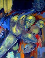 Johanna-Leipold-Menschen-Mann-Skurril-Moderne-expressiver-Realismus