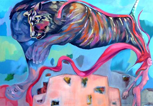 Johanna Leipold, Pimpinella is a tiger, Fantasie, Menschen: Frau, Postsurrealismus