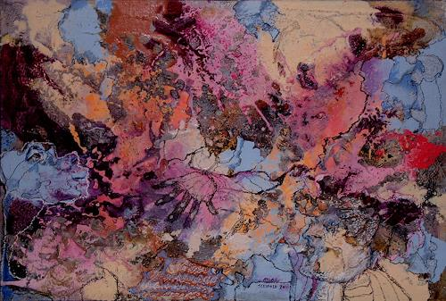 Johanna Leipold, Atlas, Träger der Welt, Mythologie, Abstraktes, Abstrakte Kunst, Abstrakter Expressionismus