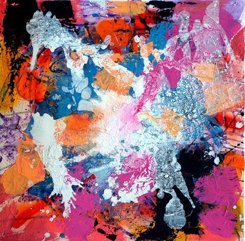 Johanna Leipold, Die Dame mit dem Fransenbein, Abstraktes, Fantasie, Abstrakte Kunst, Abstrakter Expressionismus