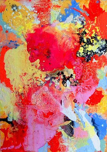 Johanna Leipold, Colour Dousing Nr 2, Abstraktes, Fantasie, Abstrakte Kunst, Expressionismus