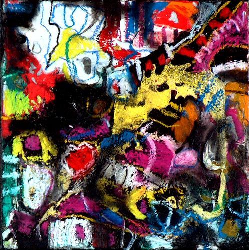 Johanna Leipold, Inferno Nr 2, Abstraktes, Fantasie, Abstrakte Kunst