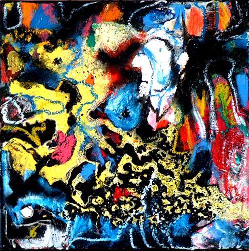 Johanna Leipold, Inferno Nr 3, Abstraktes, Fantasie, Abstrakte Kunst