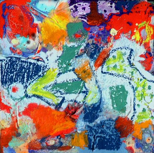 Johanna Leipold, O.T. Nr 3, Abstraktes, Fantasie, Abstrakte Kunst