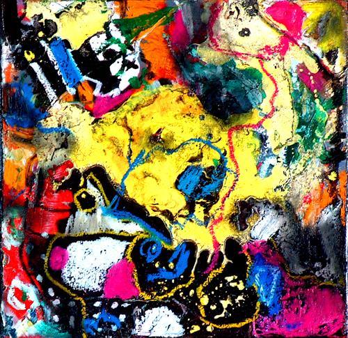 Johanna Leipold, Inferno Nr 1, Fantasie, Abstraktes, Abstrakte Kunst