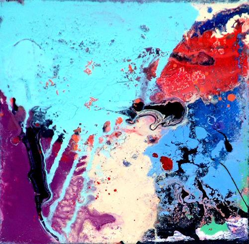 Johanna Leipold, Ich lebe immer am Strand_Nr 2 (Groenemeyer), Dekoratives, Fantasie, Abstrakte Kunst, Abstrakter Expressionismus