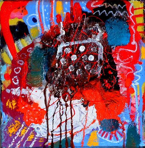 Johanna Leipold, Minipainting Nr 5, Abstraktes, Fantasie, Abstrakte Kunst