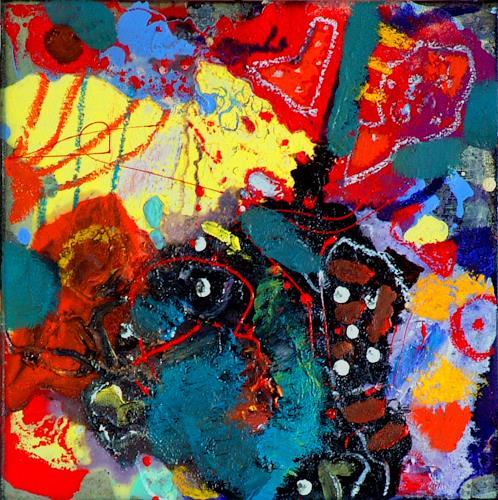 Johanna Leipold, Minipainting Nr 6, Abstraktes, Fantasie, Abstrakte Kunst