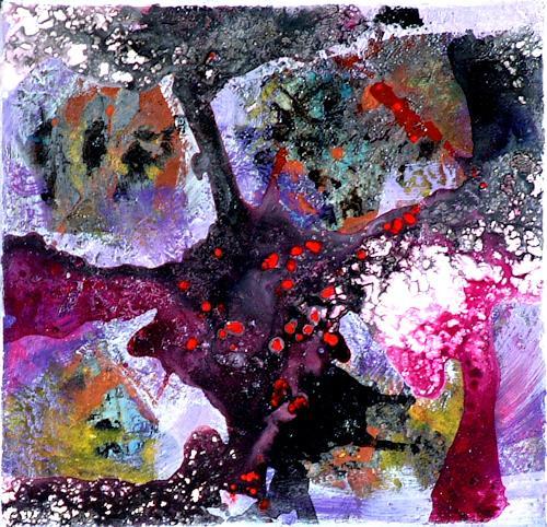 Johanna Leipold, Minipainting Nr 4, Abstraktes, Natur: Diverse, Abstrakte Kunst, Expressionismus