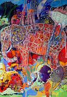 Johanna-Leipold-Fantasie-Diverse-Tiere-Moderne-expressiver-Realismus