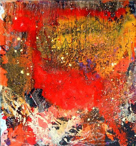 Johanna Leipold, Der Brand der schönen Momente, Abstraktes, Gefühle: Freude, Abstrakte Kunst