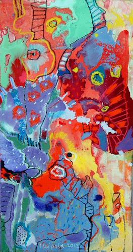 Johanna Leipold, Himmelsleiter Nr 2, Abstraktes, Fantasie, Abstrakte Kunst
