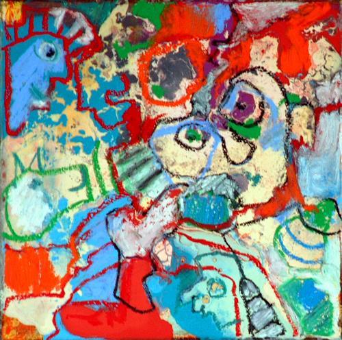 Johanna Leipold, Minipainting Nr 3, Abstraktes, Fantasie, Abstrakte Kunst
