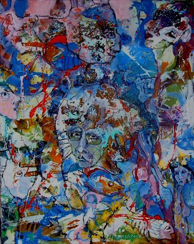 Johanna Leipold, Kleiner Kosmos der großen Neugier, Fantasie, Abstraktes, expressiver Realismus