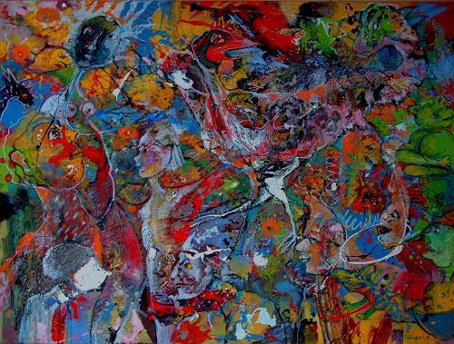 Johanna Leipold, Spaziergang im Garten der Lüste, Fantasie, Skurril, expressiver Realismus