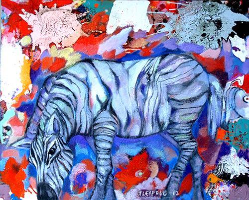 Johanna Leipold, Wenn ich ein Zebra wär...., Natur: Diverse, Fantasie, expressiver Realismus