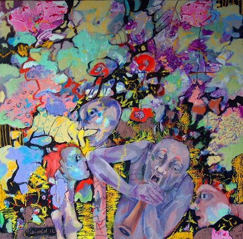 Johanna Leipold, Der Magier, Fantasie, Poesie, expressiver Realismus