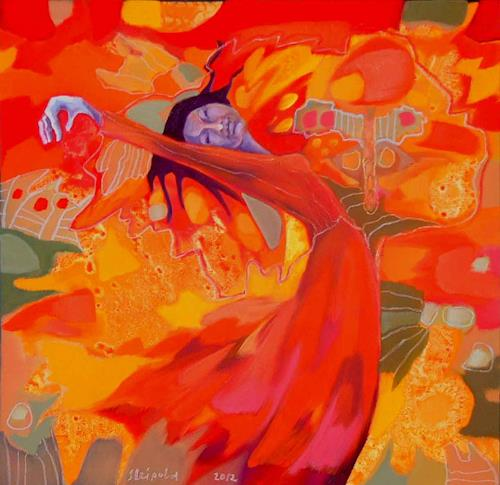 Johanna Leipold, Butterfly Feeling, Fantasie, Menschen: Frau, expressiver Realismus