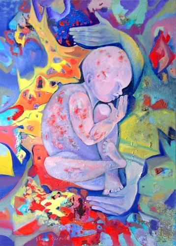 Johanna Leipold, Schmetterlings-Kind, Menschen, Gefühle, expressiver Realismus