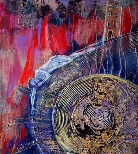 Johanna Leipold, Ich lebe mein leben in wachsenden Ringen (Rilke), Poesie, Menschen, expressiver Realismus, Abstrakter Expressionismus