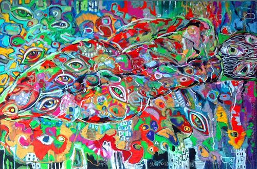 Johanna Leipold, Ich habe gross die Augen auf dich gelegt (3)_Rilke, Poesie, Fantasie, expressiver Realismus