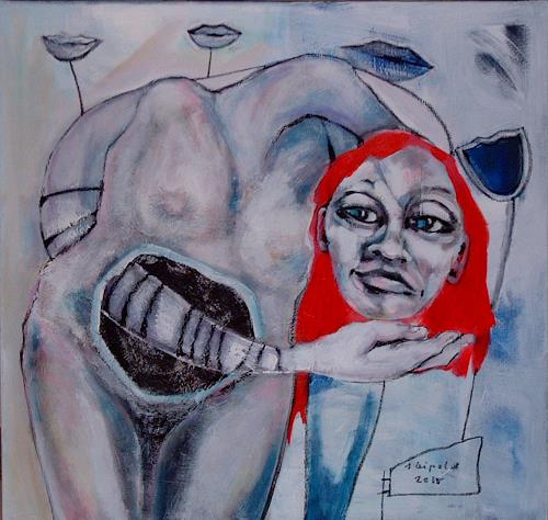 Johanna Leipold, Mein Bauchgefuehl, Gefühle, Fantasie, expressiver Realismus, Abstrakter Expressionismus
