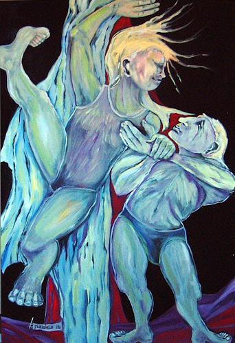 Johanna Leipold, I feel free!, Gefühle, Menschen, expressiver Realismus, Abstrakter Expressionismus