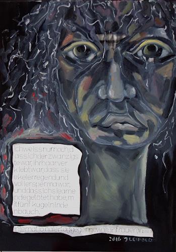 Johanna Leipold, Geständnis eines Täters, Tod/Krankheit, Krieg, expressiver Realismus