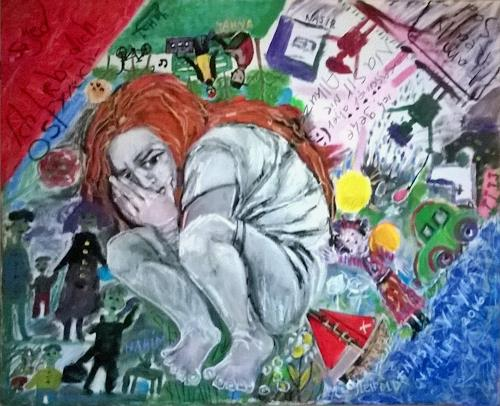 Johanna Leipold, Europa macht sich klein / Teil 2, Menschen: Gruppe, Diverse Gefühle, expressiver Realismus