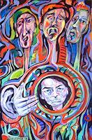 Johanna-Leipold-Menschen-Gruppe-Gefuehle-Angst-Moderne-expressiver-Realismus