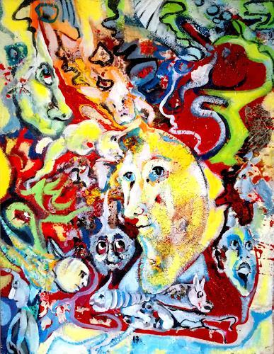 Johanna Leipold, Moon-Meeting, Fantasie, Skurril, expressiver Realismus