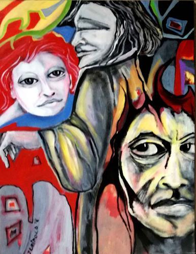 Johanna Leipold, Gretchen::Faust:: Mephisto, Menschen: Gruppe, Fantasie, expressiver Realismus