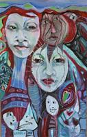 Johanna-Leipold-Fantasie-Menschen-Paare-Moderne-expressiver-Realismus