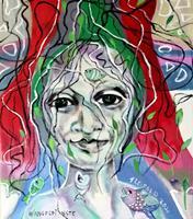 Johanna-Leipold-Fantasie-Menschen-Frau-Moderne-expressiver-Realismus