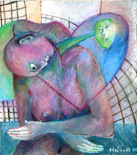 Johanna Leipold, Die LiebesKranke, Gefühle: Depression, Menschen: Frau, expressiver Realismus