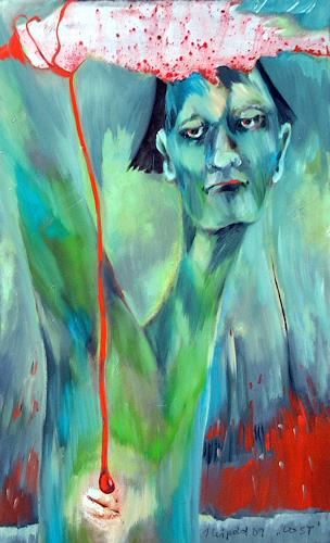 Johanna Leipold, Lost, Gesellschaft, Natur: Erde, expressiver Realismus, Abstrakter Expressionismus