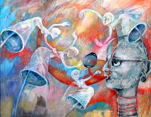 Johanna Leipold, Wir haben den Regen gebogen..(H.Groenemeyer), Bewegung, Fantasie, expressiver Realismus, Moderne