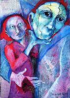 Johanna-Leipold-Menschen-Paare-Fantasie-Moderne-expressiver-Realismus
