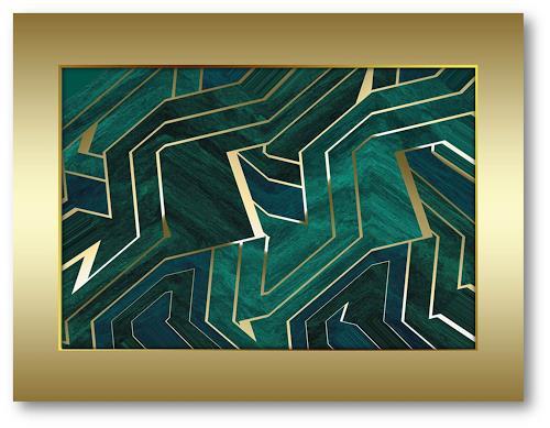 Niko Bayer, 1701200909, Abstraktes, Fantasie, Art Déco
