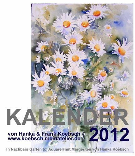Frank Koebsch, Kalender mit Aquarelle und Pastellen, Diverses, Diverses, Gegenwartskunst